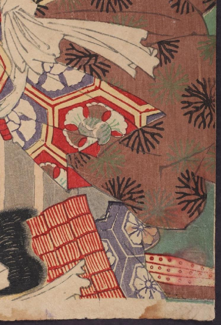UTAGAWA KUNISADA JAPANESE WOODBLOCK PRINT 1860 - 4