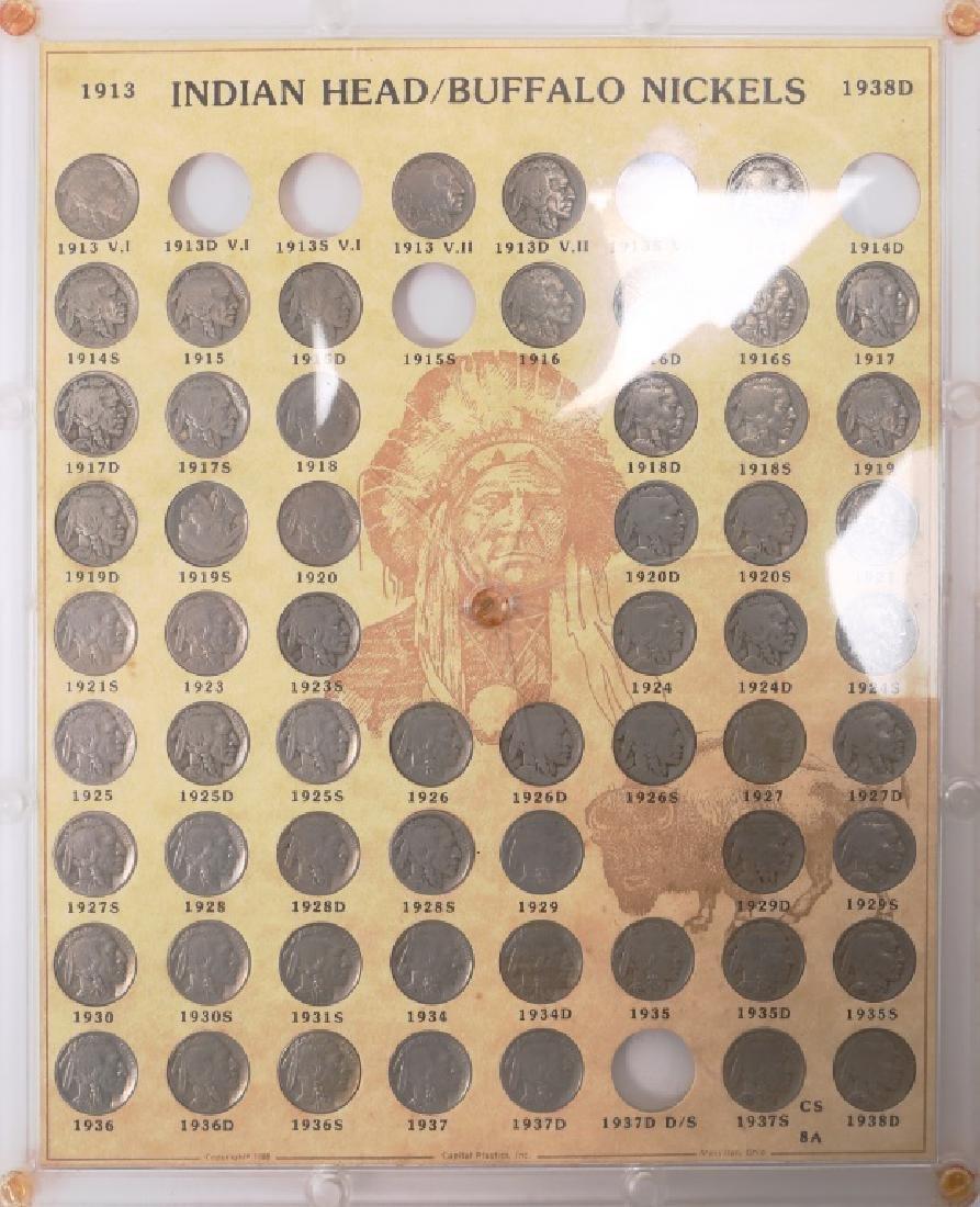 U.S. BUFFALO NICKEL PARTIAL SET 1913 - 1938