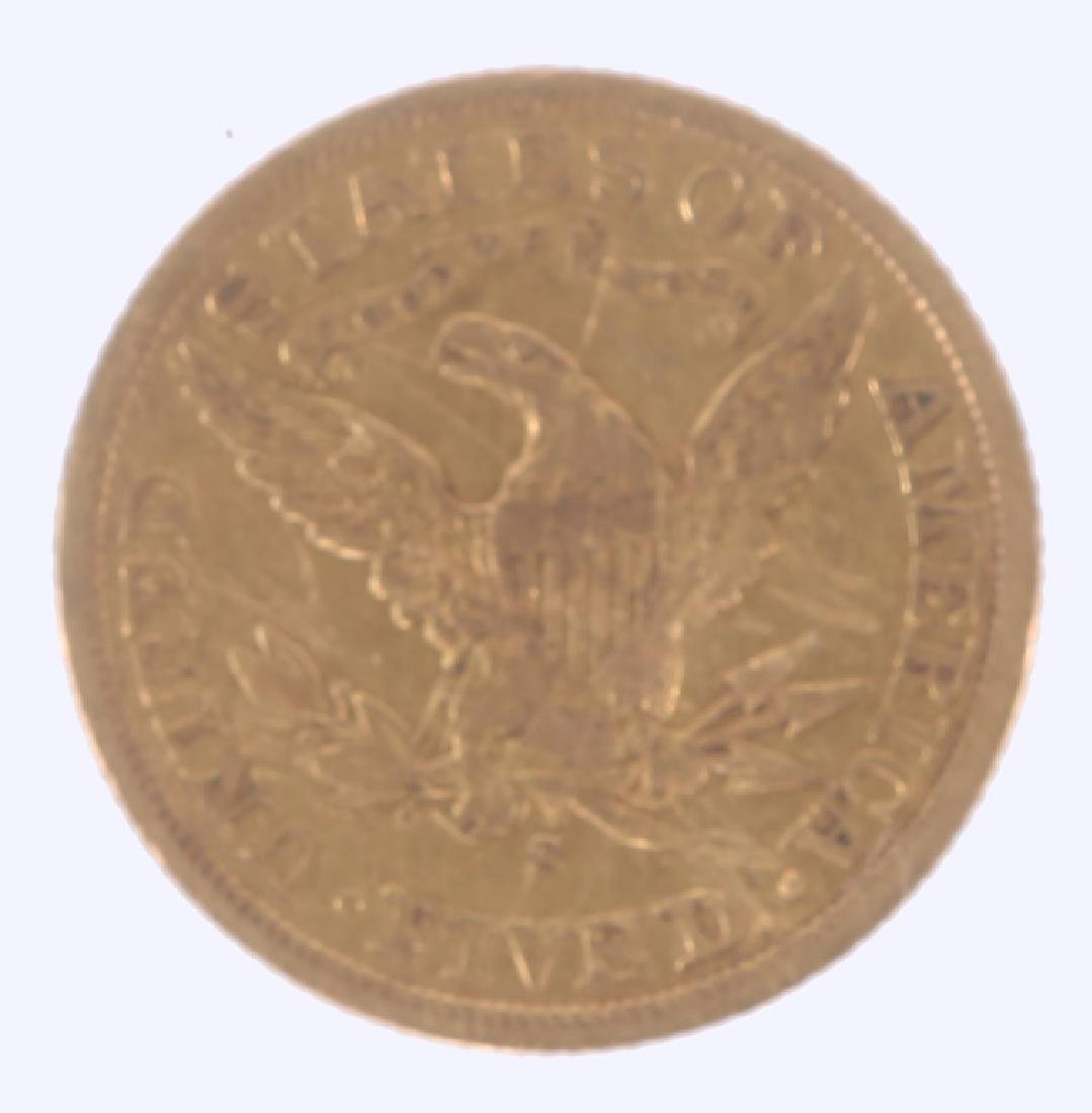 1903 S UNITED STATES FIVE DOLLAR GOLD HALF EAGLE - 2