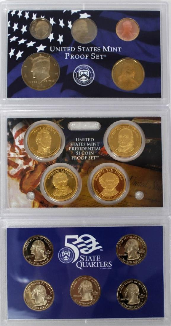 US MINT PROOF SETS 2008 - LOT OF 3 - 2