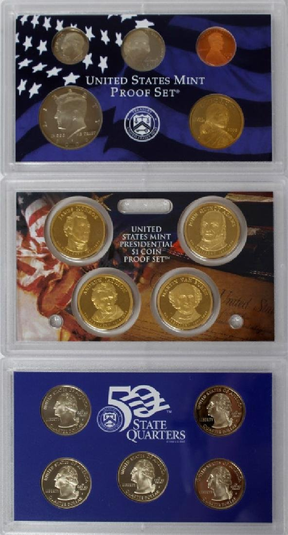 US MINT PROOF SETS 2008 - LOT OF 3 - 4