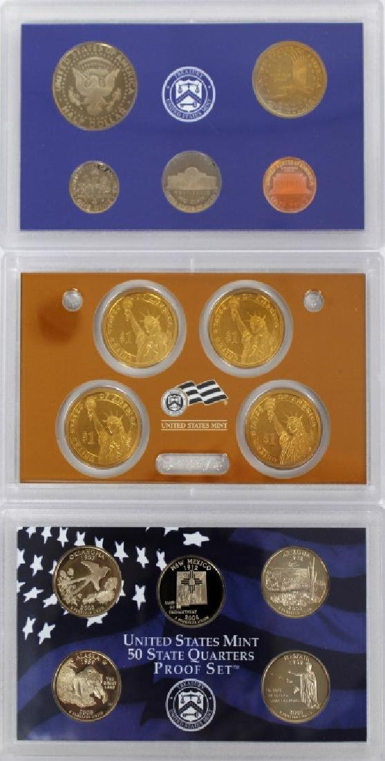 US MINT PROOF SETS 2008 - LOT OF 3 - 5