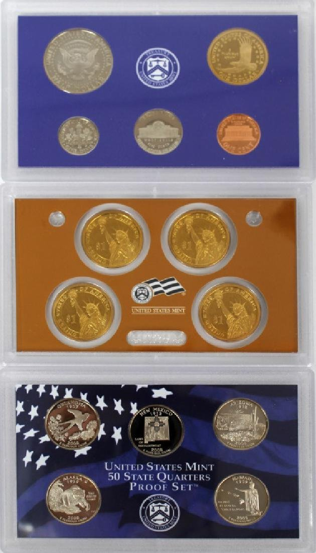 US MINT PROOF SETS 2008 - LOT OF 3 - 6