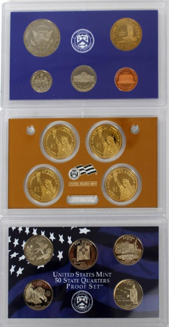 US MINT PROOF SETS 2008 - LOT OF 3 - 7
