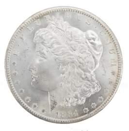 1884 CARSON CITY U.S. MORGAN SILVER DOLLAR