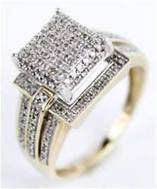 10K YELLOW GOLD LADIES DIAMOND RING