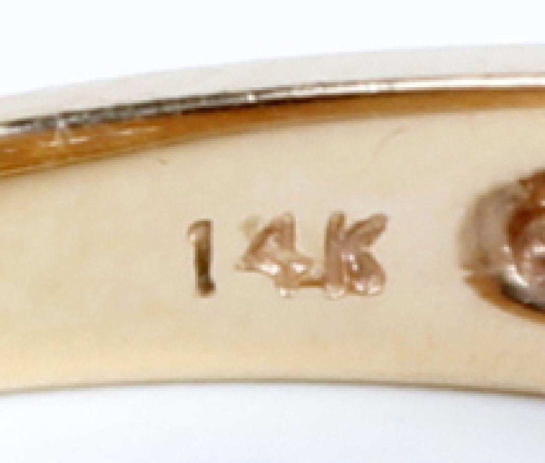 14K YELLOW GOLD LADIES DIAMOND RING - 3