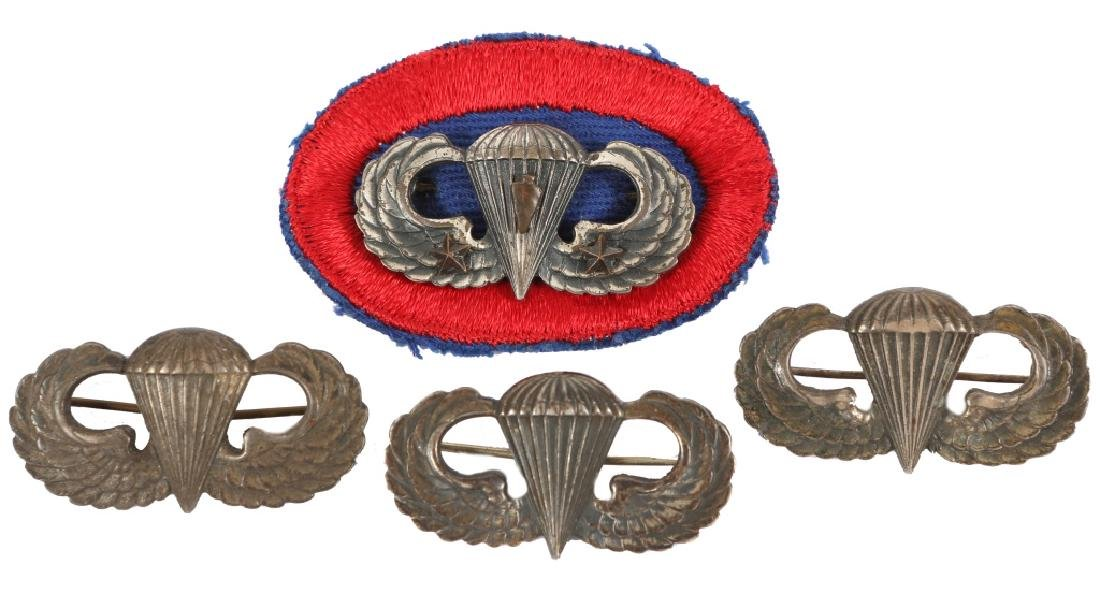 STERLING MILITARY PARATROOPER JUMP WINGS LOT OF 4