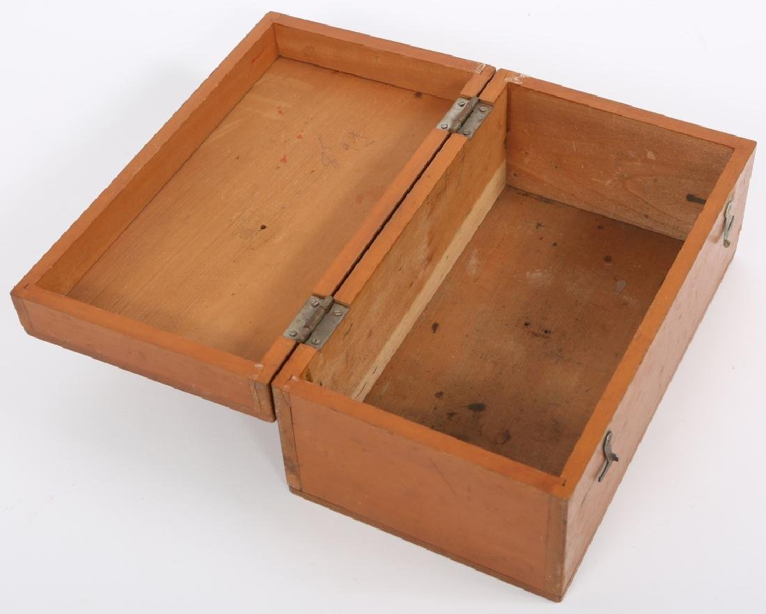 JAPANESE WWII WOODEN TOOL CASE - 2