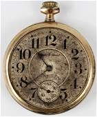 SOUTH BEND GOLD PLATED POCKET WATCH