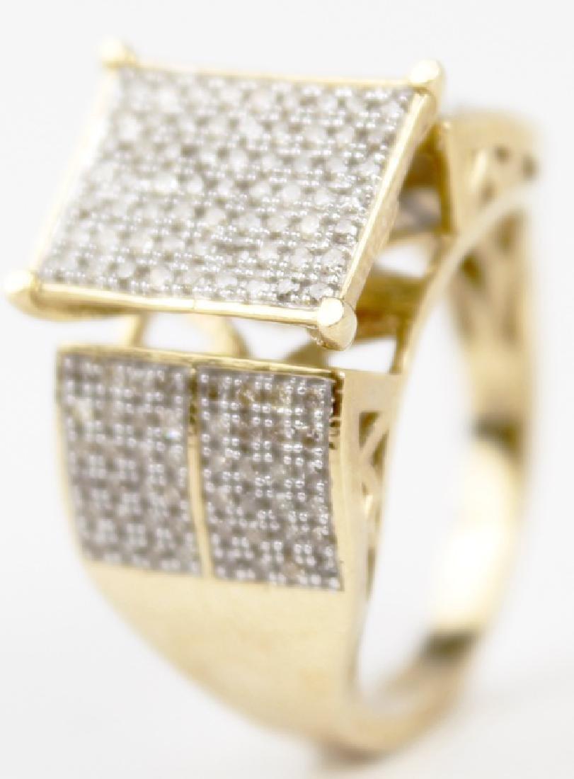 10K YELLOW GOLD DIAMOND LADIES DESIGNER RING