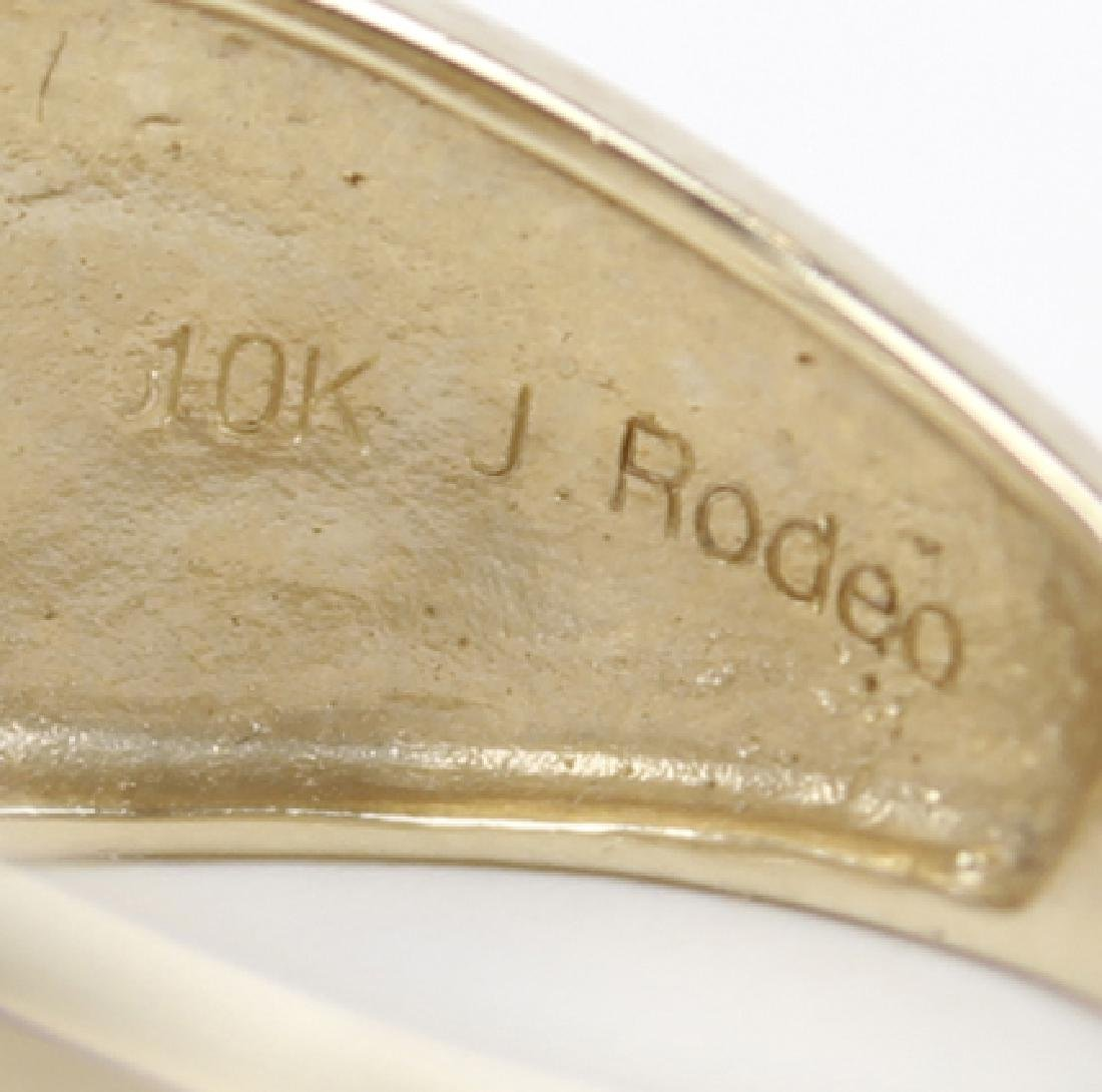 10K YELLOW GOLD MICRO PAVE DIAMOND RING - 3