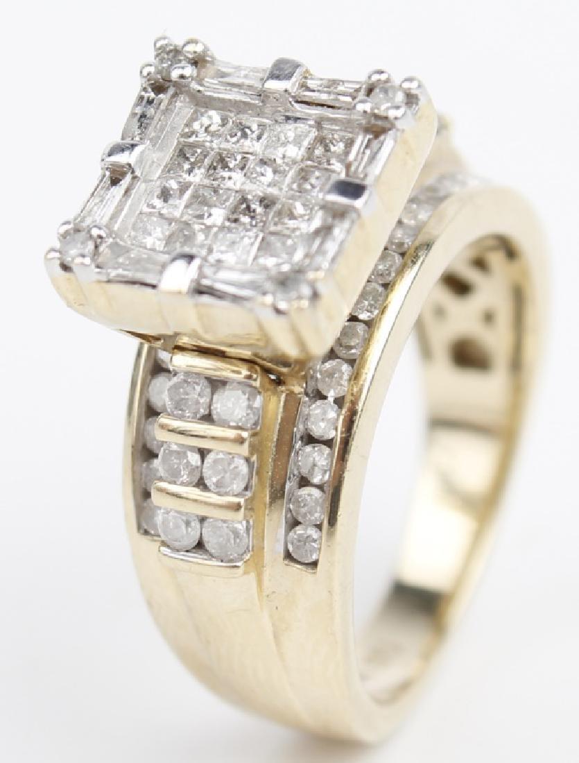 10K YELLOW GOLD LADIES ENGAGEMENT RING