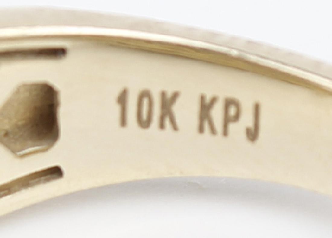 10K YELLOW GOLD LADIES ENGAGEMENT RING - 4
