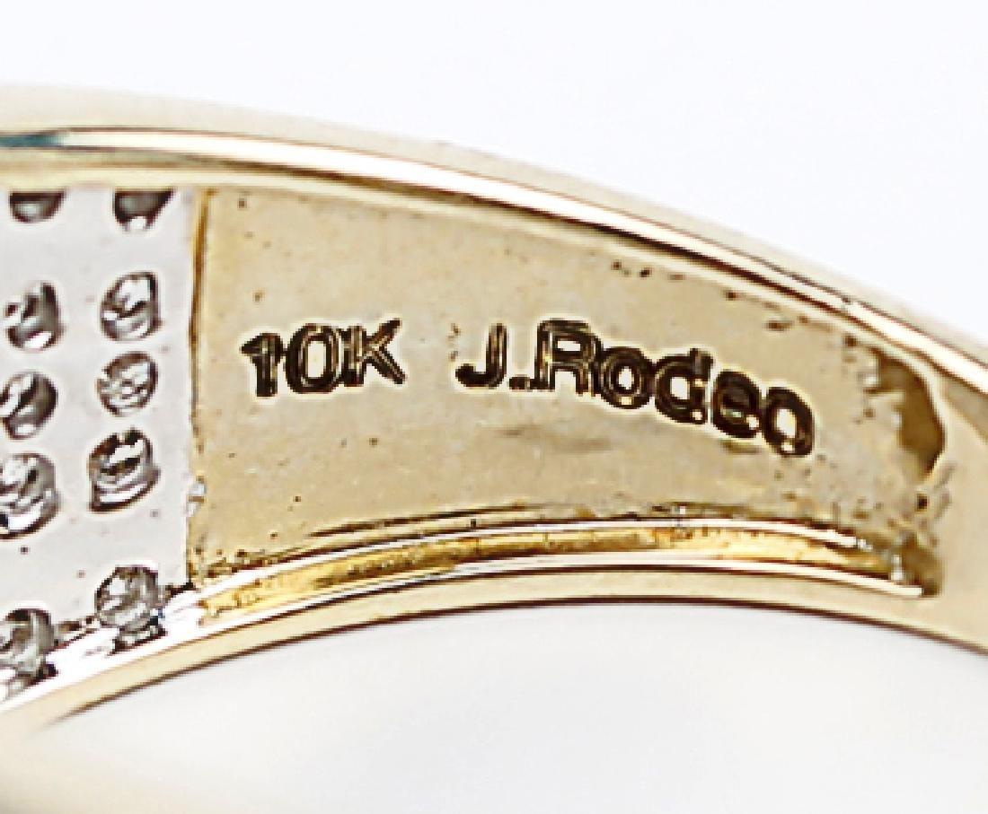 10K YELLOW GOLD DIAMOND LADIES DESIGNER RING - 4