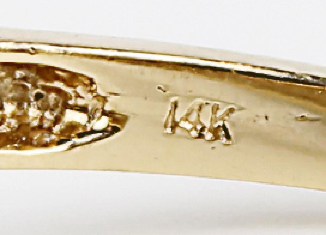 14K YELLOW GOLD LADIES DIAMOND RING - 2