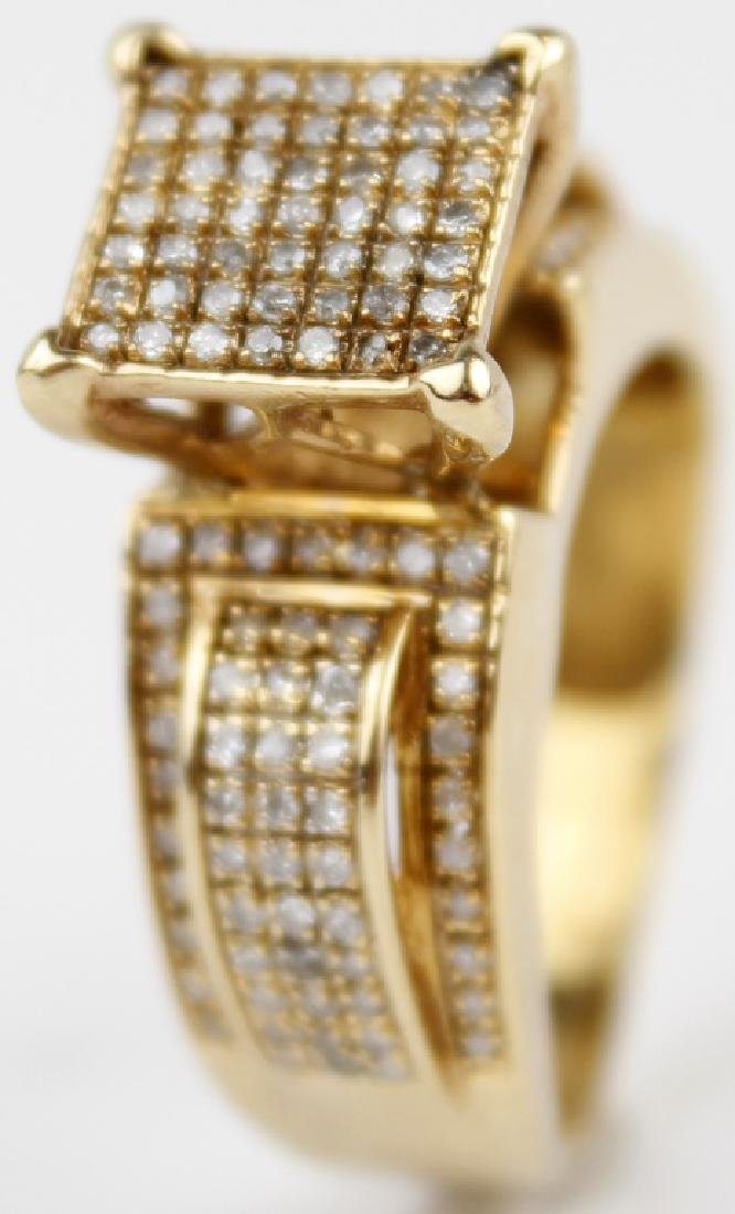14K YELLOW GOLD LADIES DESIGNER DIAMOND RING