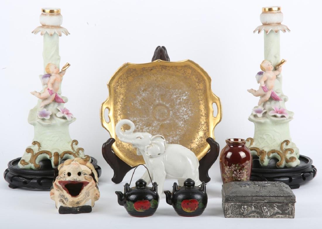 JAPANESE ORNATE JEWELRY BOX & MORE - LOT OF 11