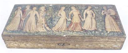 ANTIQUE FLORENTIA GOLD LEAF WOODEN DRESSER BOX