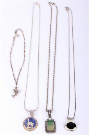 925 STERING SILVER NECKLACES AND ANKLET 4