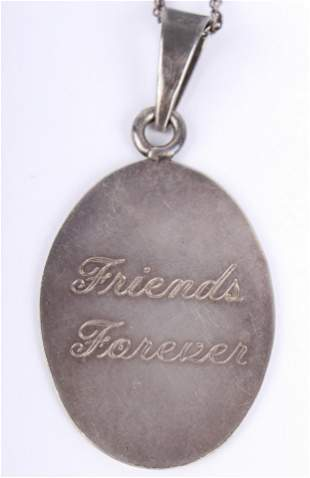 STERLING SILVER FRIENDS FOREVER PENDANT NECKLACE