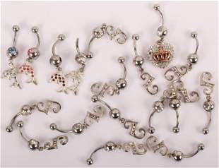 BELLY BUTTON RINGS LOT OF 18