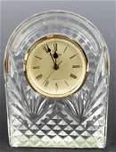 WATERFORD CRYSTAL MANTLE DESK CLOCK