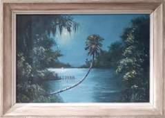 ROY MCCLENDON FLORIDA HIGHWAYMEN OIL ON UPSON