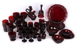 AVON 1876 CAPE COD COLLECTION RUBY RED GLASS - 33