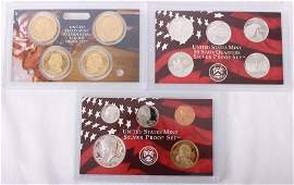 2007 US SILVER PROOF SET  PRESIDENTIAL 1 COINS