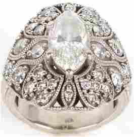 14K WHITE GOLD LADIES 2.01 CT DIAMOND RING