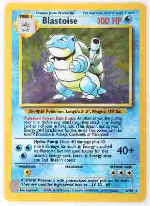 BLASTOISE BASE SET HOLOGRAPHIC POKEMON CARD 2/102