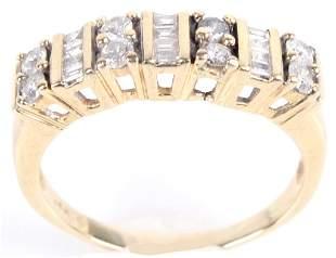 14K YELLOW GOLD DIAMOND LADIES RING -1.16 CTW