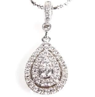 14K WHITE GOLD .52CTW DIAMOND LADIES NECKLACE