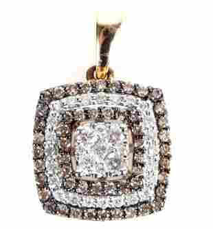 14K YELLOW GOLD .89CTW DIAMOND LADIES PENDANT