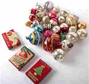 VINTAGE BLOWN GLASS CHRISTMAS ORNAMENTS