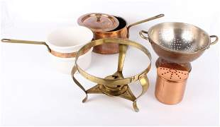 COPPER ASSORTED KITCHENWARE - LOT OF 7