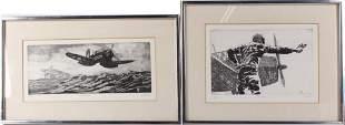 BILL ELLSWORTH WORLD WAR TWO AVIATION ETCHINGS - 2