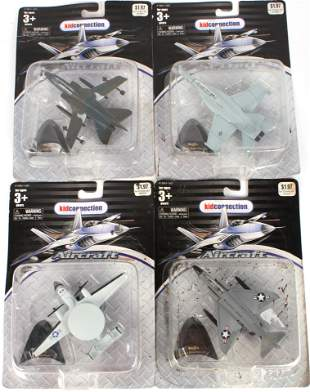 MAISTO MODEL AIRCRAFTS - NAVY COLLECTION- LOT OF 4