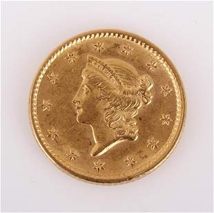 1852 $1 AMERICAN 90% GOLD COIN