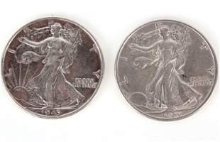1936 LIBERTY HALF & PROOF 1943 LIBERTY HALF DOLLAR