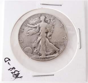 1938-D WALKING LIBERTY HALF DOLLAR - BETTER DATE