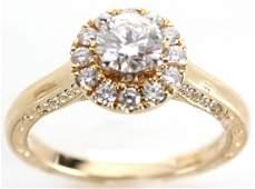 14K YELLOW GOLD .75CT DIAMOND RING BY NEIL LANE