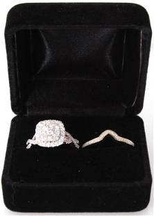 14K YELLOW GOLD 1.23CTW DIAMOND RING WITH BAND