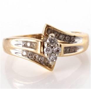 14K YELLOW GOLD AND DIAMOND KEEPSAKE RING