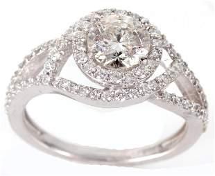 14K WHITE GOLD 1.0CT DIAMOND BRIDAL RING SET