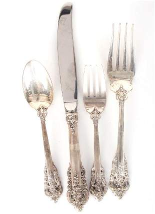 WALLACE GRAND BAROQUE 4 PC STERLING PLACE SETTING