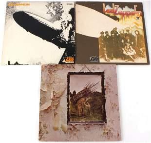 LED ZEPPELIN ALBUM I, II, AND IV VINYL RECORDS