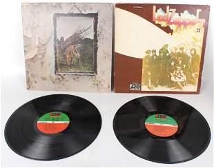 LED ZEPPELIN ALBUM II, AND IV VINYL RECORDS