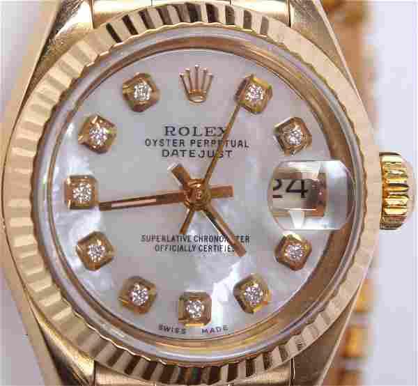 LADIES 18K YELLOW GOLD ROLEX PRESIDENT WRISTWATCH
